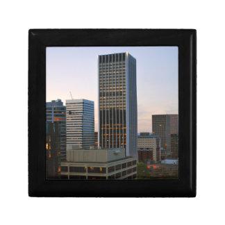 Portland Oregon Skyline at Dusk Jewelry Box
