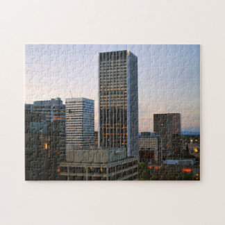 Portland Oregon Skyline at Dusk Jigsaw Puzzle