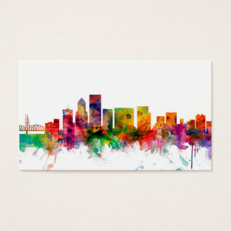 Portland Oregon Skyline Business Card