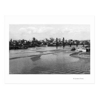 Portland, Oregon Skyline from Willamette River Postcard