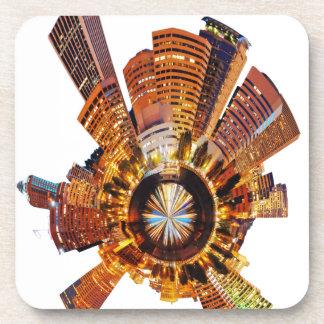 PORTLAND oregon skyline planet Drink Coasters