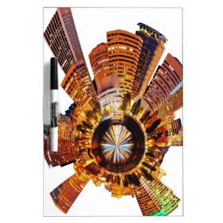 PORTLAND oregon skyline planet Dry-Erase Board