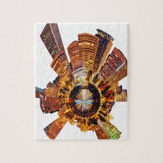 PORTLAND oregon skyline planet Jigsaw Puzzle