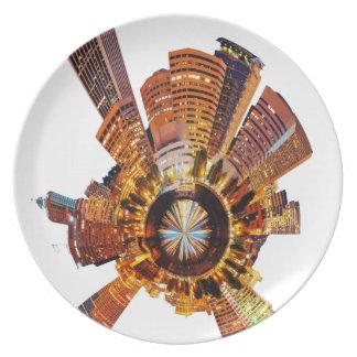 PORTLAND oregon skyline planet Party Plates