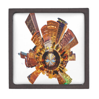 PORTLAND oregon skyline planet Premium Trinket Boxes
