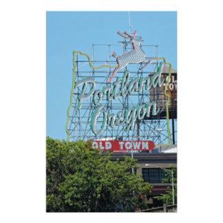 Portland Oregon Stag Sign Stationery