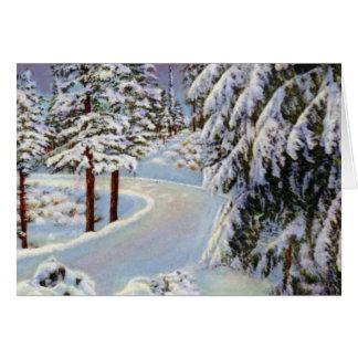 Portland Oregon Summit of Siskiyous in Winter Card