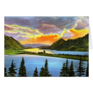 Portland Oregon Sunset on the Columbia Card