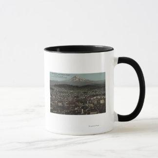 Portland, Oregon - View of Downtown with Mt Mug