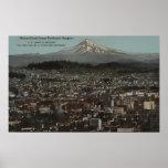 Portland, Oregon - vista del centro de la ciudad c Impresiones