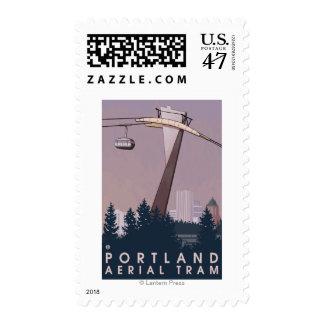Portland, OregonAerial Tram Scene Postage