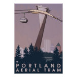 Portland, OregonAerial Tram Scene Poster