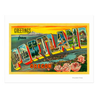 Portland, OregonLarge Letter Scenes Post Cards