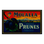 Portland, OregonMolalla Prune Label Poster