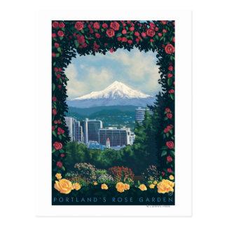 Portland, OregonRose Garden Scene Postcard