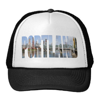 Portland Panoramic City Skyline Trucker Hat