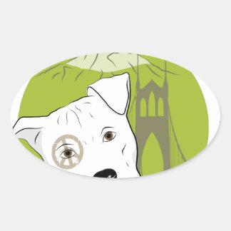 Portland Pit Bull Project Fun Products Oval Sticker