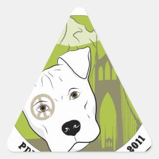 Portland Pit Bull Project Fun Products Triangle Sticker