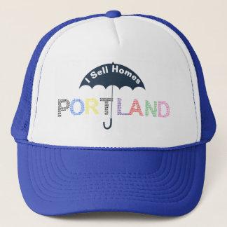 Portland Real Estate Homes Blue Baseball Cap Hat