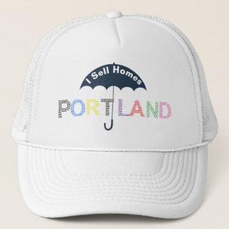 Portland Real Estate Homes White Baseball Cap Hat