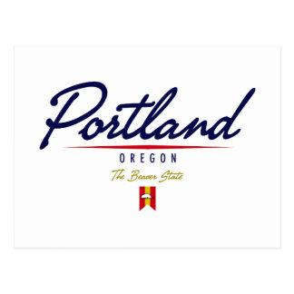Portland Script Postcard