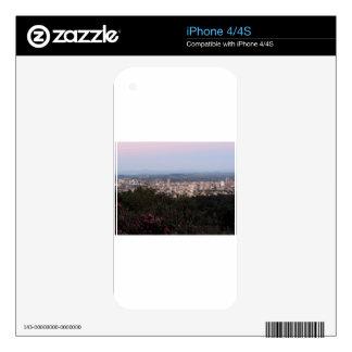 Portland Skyline at Dusk iPhone 4S Decal