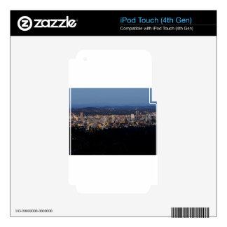 Portland Skyline at Dusk iPod Touch 4G Skin