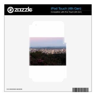 Portland Skyline at Dusk iPod Touch 4G Decal