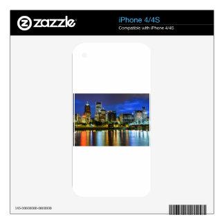 Portland Skyline at Dusk Skins For iPhone 4