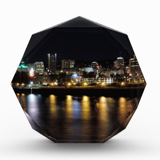 Portland Skyline at Night Acrylic Award