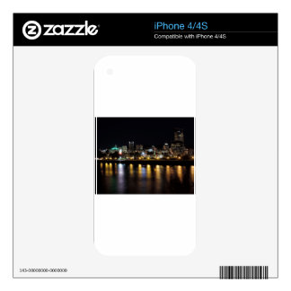 Portland Skyline at Night Skins For The iPhone 4