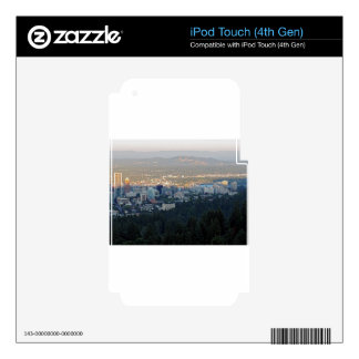 Portland Skyline at Sunset Decals For iPod Touch 4G