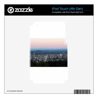 Portland Skyline at Sunset Skin For iPod Touch 4G
