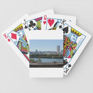 Portland Skyline Bicycle Playing Cards