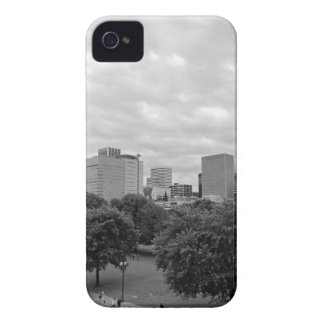 Portland Skyline Black and White iPhone 4 Covers