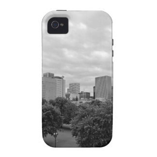 Portland Skyline Black and White Case-Mate iPhone 4 Covers