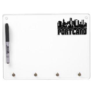 Portland Skyline Dry-Erase Whiteboard