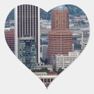 Portland Skyline Heart Sticker