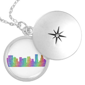 Portland skyline locket necklace