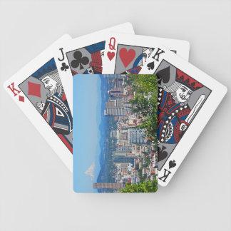 Portland Skyline Mount Hood Playing Cards