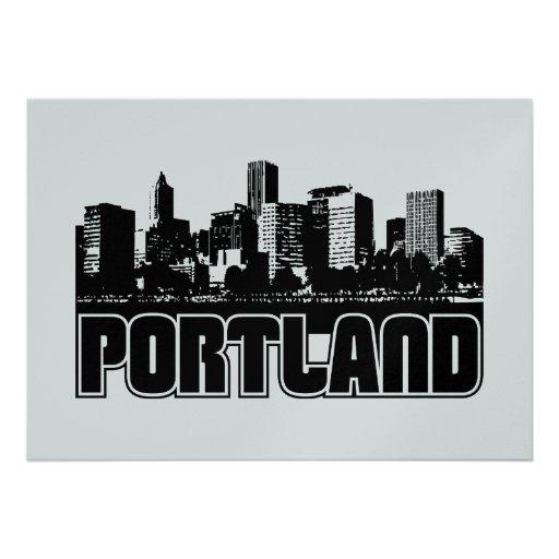Portland Skyline Personalized Invite