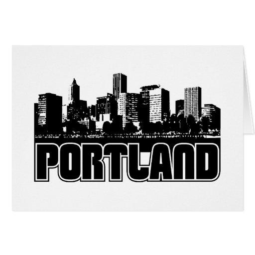 Portland Skyline Stationery Note Card