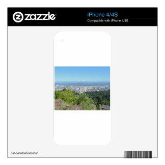 Portland Skyline with Mount Hood iPhone 4S Skin