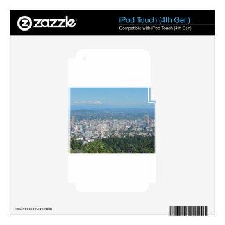 Portland Skyline with Mount Hood iPod Touch 4G Skins