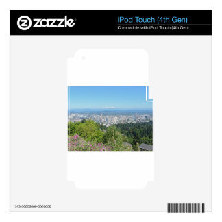 Portland Skyline with Mount Hood Decals For iPod Touch 4G