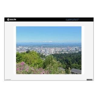 "Portland Skyline with Mount Hood Skins For 15"" Laptops"