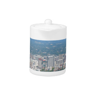 Portland Skyline with Mount Hood Teapot