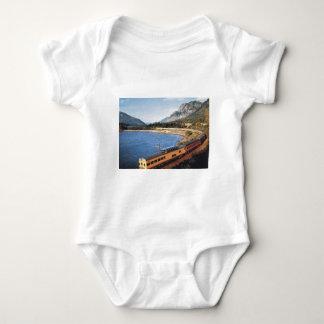 Portland Streamliner, Columbia River Gorge Vintage Baby Bodysuit