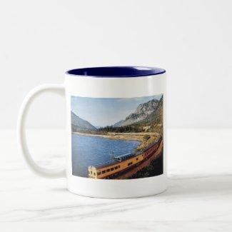Portland Streamliner, Columbia River Gorge Vintage mug