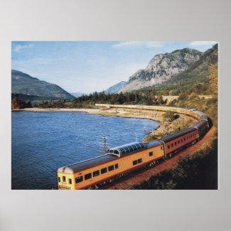 Portland Streamliner, Columbia River Gorge Vintage print